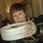Sharon with all the empty plates!