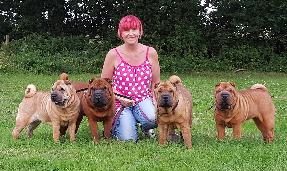 Sharon with her Shar Pei